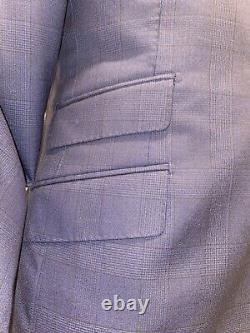SuitSupply- Sienna- 38R 2pc. Slim-Fit, Drago Super 130 Pure Wool, Plaid Pattrn