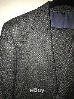 SuitSupply Slim Fit Washington Suit Grey 120's Wool 40L 34 Pin Dot Pattern
