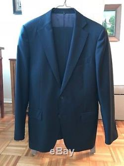 SuitSupply Suit Navy Blue London 36R Classic Slim British Supply Custom 38 Fit