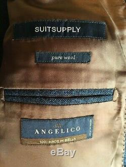 Suitsupply Double Breasted Suit = Madison Fit = Uk 38 =slim Fit= Used = Rrp £469