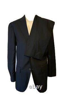 Suitsupply Lazio Mens Navy Blue Perennial Super 110s Slim Fit Suit 36