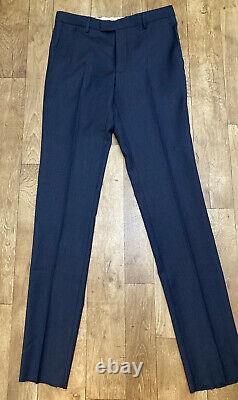 TM Lewin Navy Mens Slim Fit Infinity Active 2 Piece Trouser Suit 40R NWT A93
