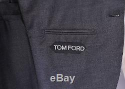 TOM FORD Current Model Solid Gray Slim Fit 2-Btn Wool Suit (Eu 48C) 38S