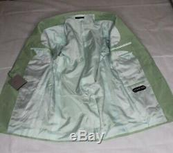 TOM FORD LUXURY DESIGNER SUIT COTTON/SILK MIX CANVASSED-STYLISH SLIM FIT 36x32