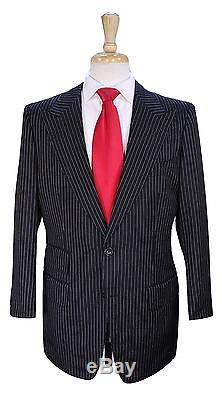 TOM FORD Recent Black Pinstripe Peak Lapel Slim Fit Wool-Mohair Suit 40S