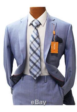 Tallia Light Blue Slim Fit Suit Mens Suits