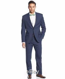 Tallia Men's Stripe Slim-Fit Suit, Blue, 42R 35W