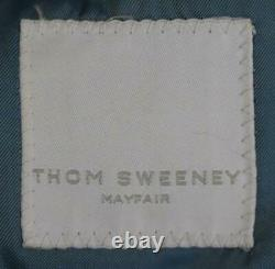 Thom Sweeney Checked Slim Fit Wool Three Piece Suit Large