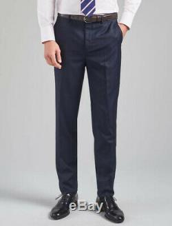 Thomas Pink Men Suit Nav/blk Hamilton birdseye-pattern slim-fit wool 38r x 32W