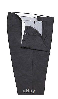 Tm Lewin Sycamore Charcoal Dormeuil Italian Wool Slim Fit Suit RRP £399 36/32