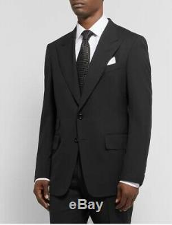 Tom Ford Suit Jacket Blazer Shelton Slim Fit Black Peak Lapel Wide Dinner 40 50