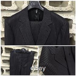 UltraRare&Gorgeous Dior Homme AW07 Hedi Slimane SlimFit Flannel Pinstripe Suit