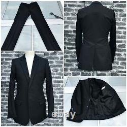 UltraRare & Great Dior Homme SS04 Hedi Slimane Thick Cotton Slim Fit Black Suit