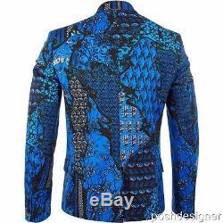 Versace Jeans Floral Suit IT48 Jacket + Pants Slim Fit RRP795GBP