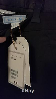Versace x H&M Cruise Collection Slim Fit Suit Set Size EU 50 Black DEAD STOCK
