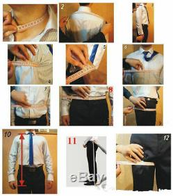 Wedding Men Suits Set for Man Groom Slim Fit Herringbone Houndstooth 3 Pieces