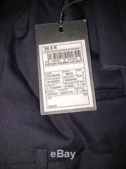 Z by Zegna Navy Blue Two-button Suit Slim Fit 100% Wool 46 US (56 R/38)